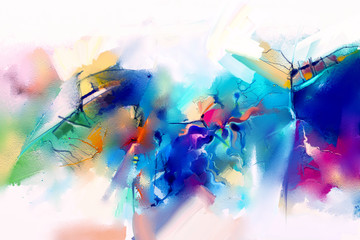 Abstract colorful oil paint...