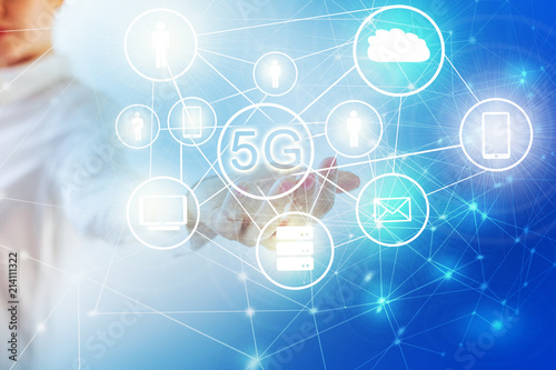 5G k Internet mobile wireless concept  Map from hands  Best
