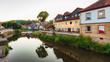 Medieval German Bavarian Town of Kronach in Summer. Lovely historical houses
