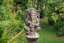 Ganesha Statue In A Garden