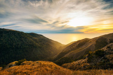 Sunset Over The Pacific Ocean From Santa Lucia Range