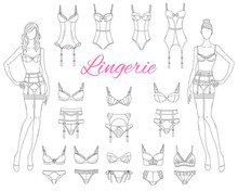 Female Lingerie Collection Wit...