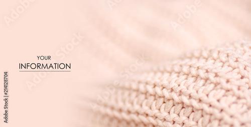 Fotografía  Beige knitted sweater texture fabric textile macro pattern blur background