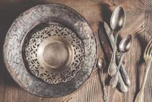Vintage Antique Silverware On ...