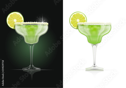Fotomural Margarita glass. Alcohol cocktail. Alcoholic classic drink