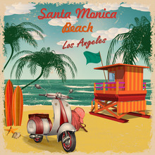 Santa Monica Beach, California...