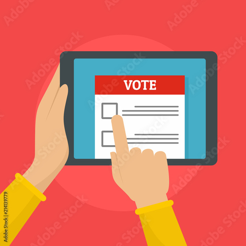 Valokuvatapetti Online voting background