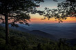Sunset along the Blue Ridge Parkway