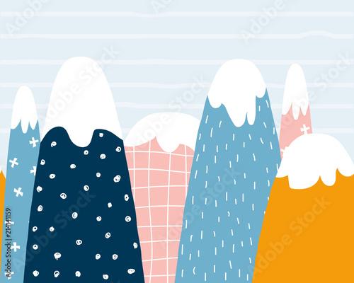 sliczne-gory-wzor-dziecinna-grafika-wektorowa-reka-rysujaca-ilustracja