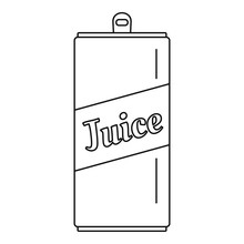 Juice Can Icon. Outline Juice Can Vector Icon For Web Design Isolated On White Background