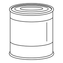 Food Tin Can Icon. Outline Food Tin Can Vector Icon For Web Design Isolated On White Background
