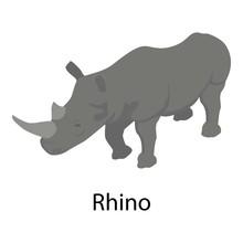 Rhino Icon. Isometric Of Rhino...