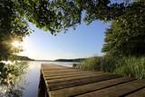 Fototapeta Natura - idyllischer Steg am Westensee