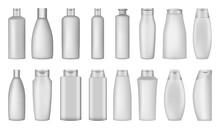 Shampoo Bottle Hair Body Washing Soap Care Mockup Set. Realistic Illustration Of 16 Shampoo Bottle Hair Body Washing Soap Care Mockups For Web
