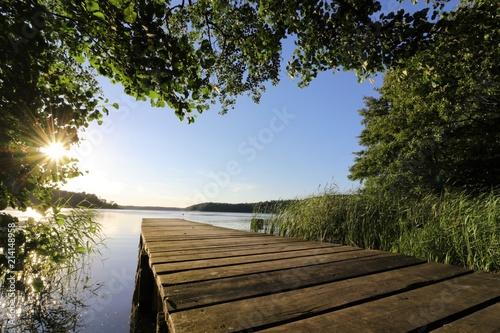 idyllischer Steg am Westensee