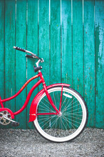 Red Women's Retro Style Bicycl...