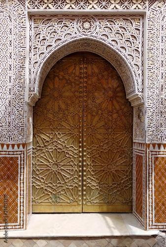 Porte à La Décoration Orientale Buy This Stock Photo And Explore