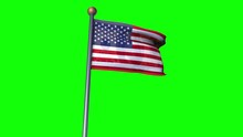 USA Flag Convert To 100 Dollar Flag In Greenscreen Background