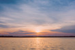 sunrise in the sea, beautiful sunrise above the sea landscape background