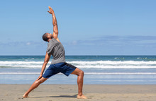 Athletic Man At The Beach In R...
