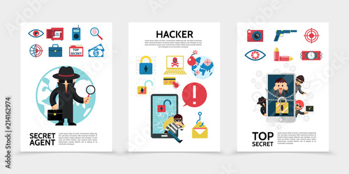 Flat Hacking Posters