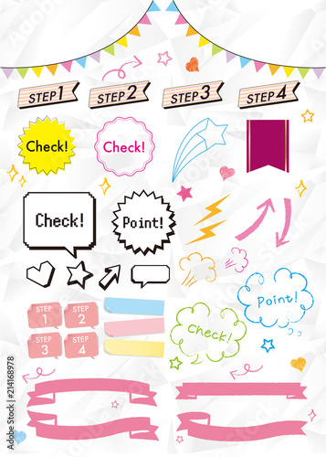 Fotografie, Obraz  Check point set Vector