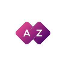Two Letter Az Diamond Rounded Logo