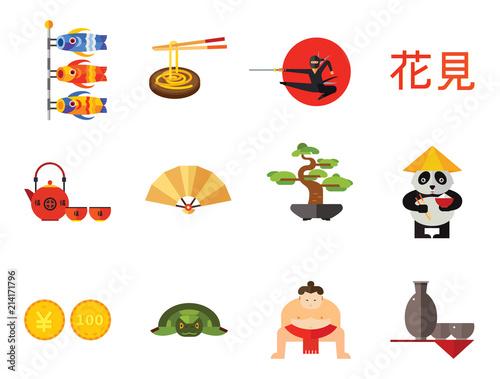 Fotografie, Obraz  Bonsai Icon Set
