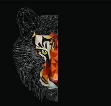 Low Poly Triangular Tiger Head...