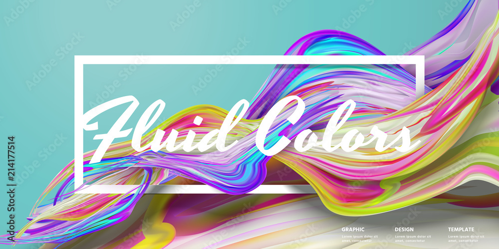 Photo  Abstract fluid colors banner