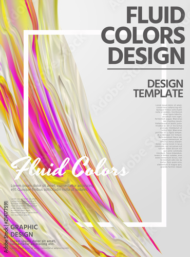 Photo  Abstract fluid colors poster design