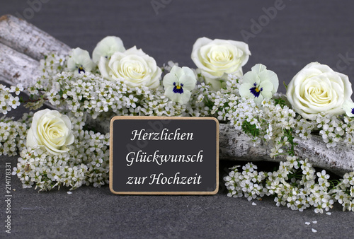 Herzlichen Gluckwunsch Zur Hochzeit Buy This Stock Photo And