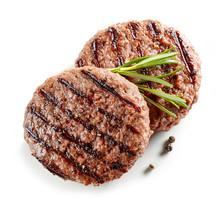 Freshly Grilled Burger Meat