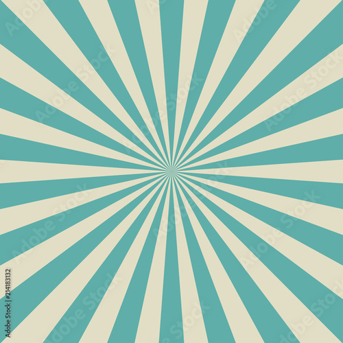 Sunlight Retro Faded Background Aquamarine Blue And Beige Color