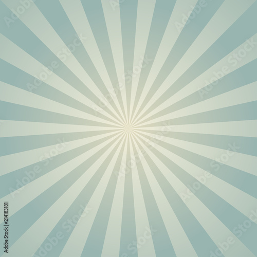 Sunlight Retro Faded Background Pale Blue Color Burst Background
