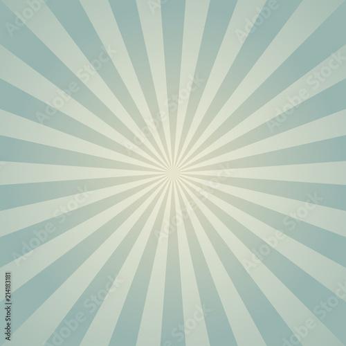 Sunlight Retro Faded Background Pale Blue Color Burst Background