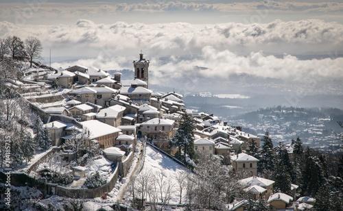 Sacro Monte di Varese sotto la neve Canvas Print