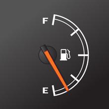 Fuel Gauge - Car Dashboard Device Of Gasoline Level