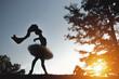 Silhouette of ballerina in nature