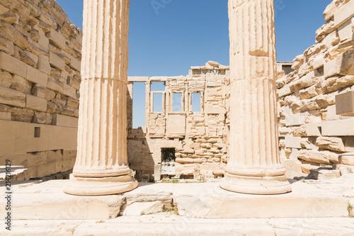 Fototapety, obrazy: Ruins of old temple of Athena Polias near Parthenon temple, Athens, Greece