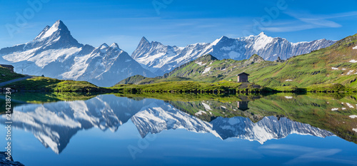 Canvas Prints Alps lac bachalp