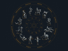 The Zodiac Circle. Vector Illu...