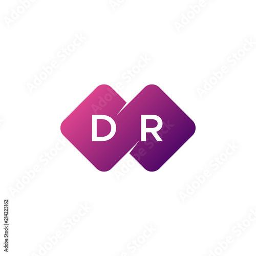Fotomural two letter dr diamond rounded logo