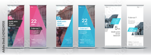 Fototapeta Set of templates with a design of vertical banners.