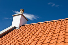 House Roof With New Tiles. Tile Roof
