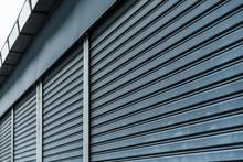Abstract Striped Pattern Of Roller Shutter Door