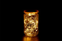 Fairy Light In A Glass Jar Wit...