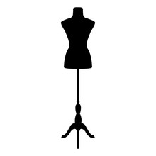 Fashion Sewing Mannequin. Vector Illustration II.