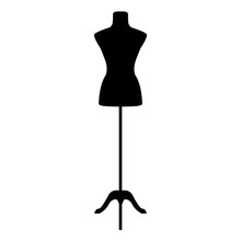 Fashion Sewing Mannequin. Vector Illustration.