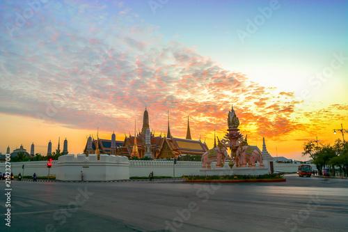 Aluminium Prints Bangkok Wat Phra Kaew - The Temple of Emerald Buddha in Bangkok, Thailand